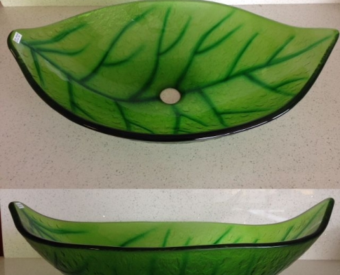 green-leaf vessel sink