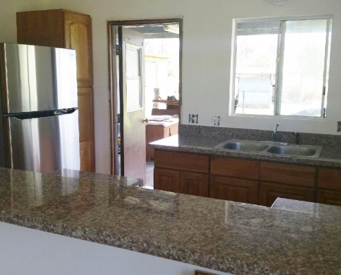 Big Island of Hawaii Kitchen with medium colored granite
